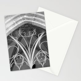 Window of St. Mary's Church Torgau, black and white photo Stationery Cards