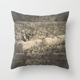 Angel Craving Chaos Throw Pillow