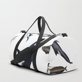 Dolphins all around Duffle Bag