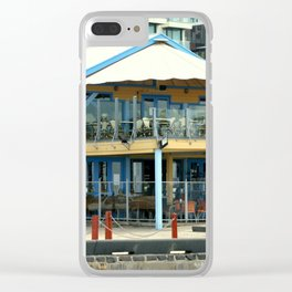 The blue Restaurant Clear iPhone Case