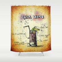 cuba Shower Curtains featuring Cuba Libre by jamfoto