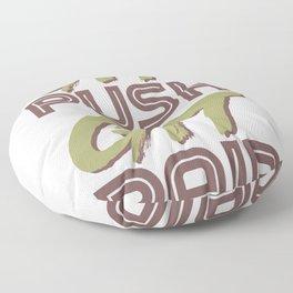 Fun Git Push Git Paid ASCII and Git Lover Coding Humor Programmer Gift Floor Pillow