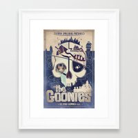 goonies Framed Art Prints featuring Goonies by Jared Andolsek