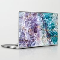 crystals Laptop & iPad Skins featuring crystals  by lokyic