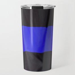 Thin blue line police flag Travel Mug