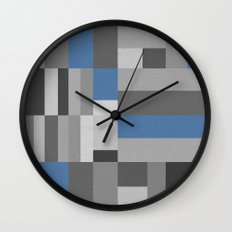 White Rock Blue Wall Clock