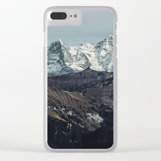 Mountain Mood II Clear iPhone Case