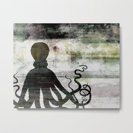 Abstract Octopus Metal Print