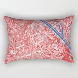Vienna, Austria street map Rectangular Pillow