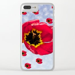 Lots of Bloomin' Tulips Clear iPhone Case