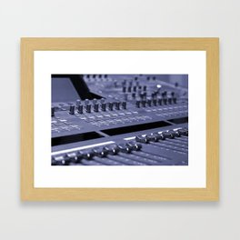 Mixing Console Framed Art Print
