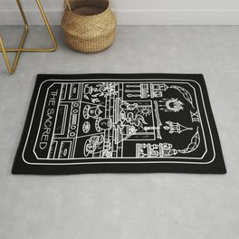 The Sacred Witch's Kitchen Tarot Black Rug