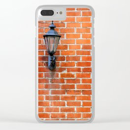 Brick Wall Light Clear iPhone Case