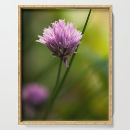 Chive Bloom Serving Tray