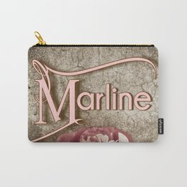 Personalized Antique Rose Carry-All Pouch