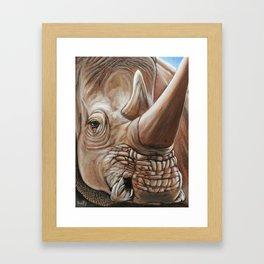 Dusty Horns Framed Art Print