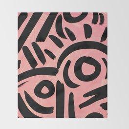 Pink Tribal Graffiti Throw Blanket