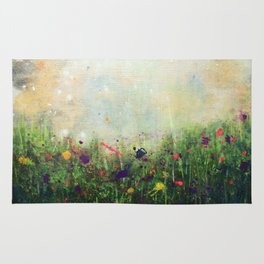 Abstract Meadow Rug
