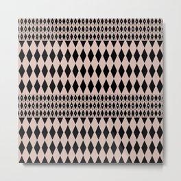 Black and beige ornament Metal Print