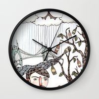 oregon Wall Clocks featuring Portland, Oregon by Brooke Weeber