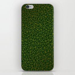 Gold Lowpoly in Green Background iPhone Skin