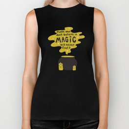 Magic Quote in Yellow Biker Tank