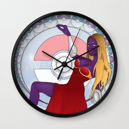 Art Nouveau Pocket Monster Wall Clock