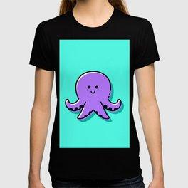 Kids Nursery Decor Cute Purple Octopus T-shirt