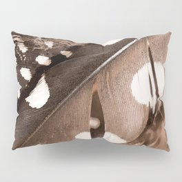 Beautiful Feathers On A Dark Brown Background #decor #buyart #society6 Pillow Sham