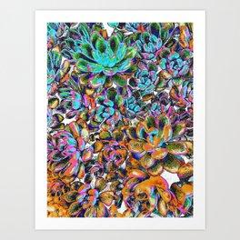 Floral tribute [galaxy] Art Print