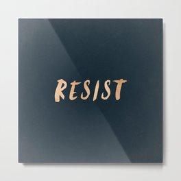 RESIST 7.0 - Rose Gold on Navy #resistance Metal Print