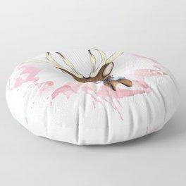 Pink Deer - Ciervo Rosa Floor Pillow