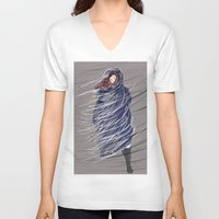 storm V-neck T-shirts featuring Storm by Mayacoa
