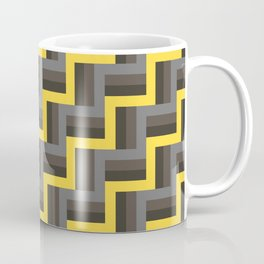 Plus Five Volts - Geometric Repeat Pattern Coffee Mug