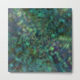 Dimensional Waves Metal Print