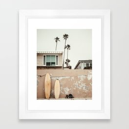 San Diego Surfing Framed Art Print