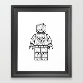 Skull-Brick Framed Art Print
