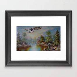 The Fight! Framed Art Print