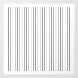 Silver Thistle Pinstripe on White Art Print