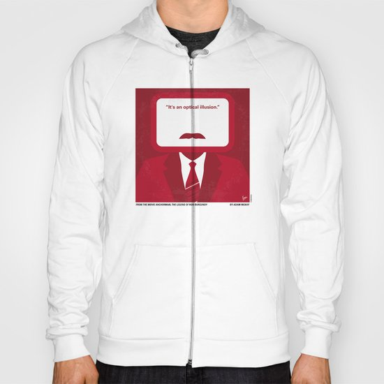 No278 My Anchorman Ron Burgundy minimal movie poster Hoody