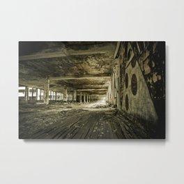 Crumbling History - Detroit Motor City Metal Print