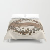 rabbit Duvet Covers featuring Rabbit by Jessica Roux
