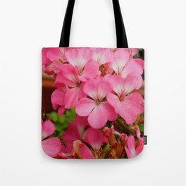 Pink Geranuims Tote Bag