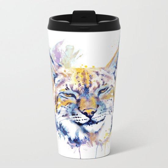 Bobcat Head Metal Travel Mug