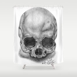 Shadow Skull Shower Curtain