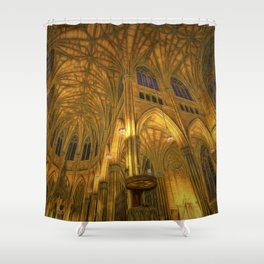 Golden Light Cathedral Shower Curtain