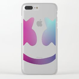 Marshmello - Galaxy Color Clear iPhone Case