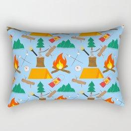 Let's Explore The Great Outdoors - Light Blue Rectangular Pillow