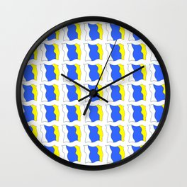 flag of canary islands-canaries,canary,atlantic,canarias,Canarian,canario,canaria,spain,spanish, Wall Clock
