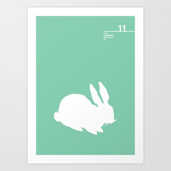 11_lprabbits_K Art Print